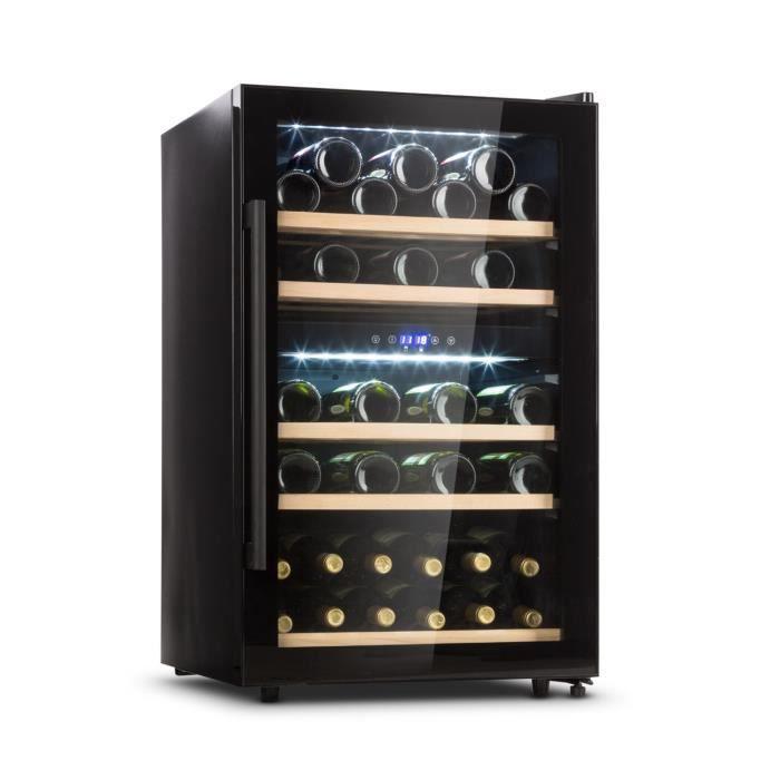 Klarstein Barossa 40D Cave à vin de conservation 135L - 41 bouteilles - 2 zones de température - éclairage LED - porte vitrée