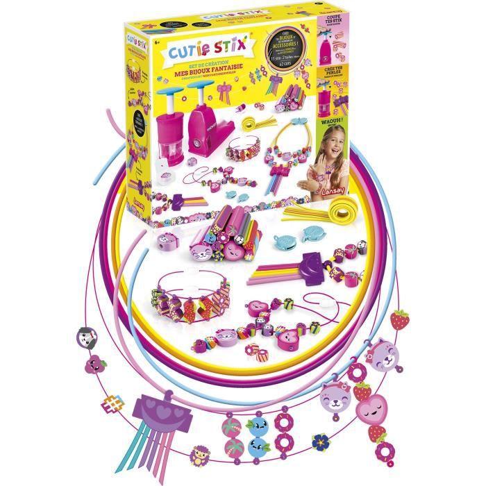 LANSAY Set de création bijoux fantaisie Cutie Stix - Fille - À partir de 6 ans