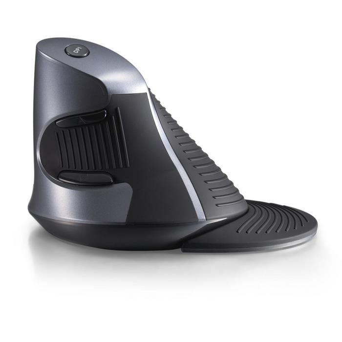 delux m618gx 2.4g souris sans fil ergonomique souris verticale 6 boutons 800-1200-1600 dpi souris avec repose-poignet