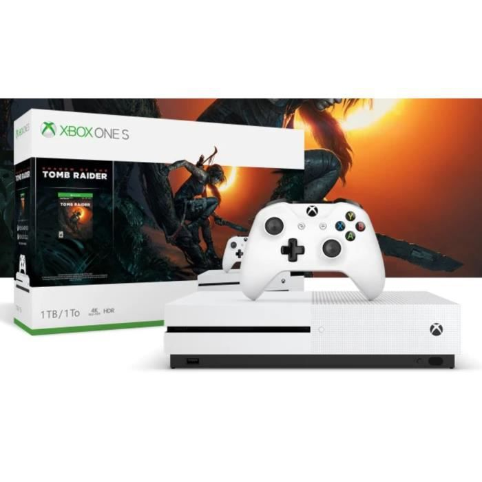 Xbox ONE S 1 To + Shadow of Tomb Raider + Xbox live 14 jours