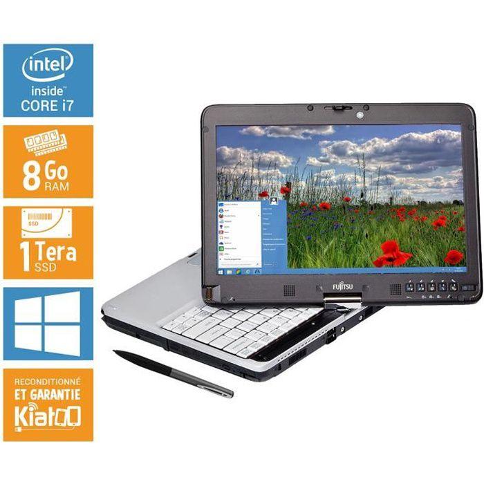 Ordinateur portable tactile Siemens Fujitsu lifebook T731 CORE I7 8GO RAM 1 TO DISQUE DUR SSD tablette tactile reconditionné stylet