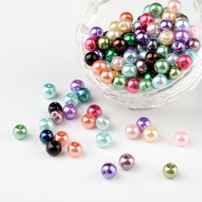 PandaHall - Lot de 50-400pcs Mixtes Perles Nacr...