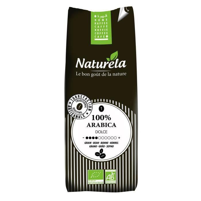 Café pur arabica bio grain 250g