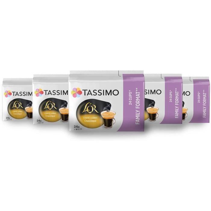 TASSIMO Café Dosettes L'Or Café Long Classique - Lot de 5 x 24 boissons
