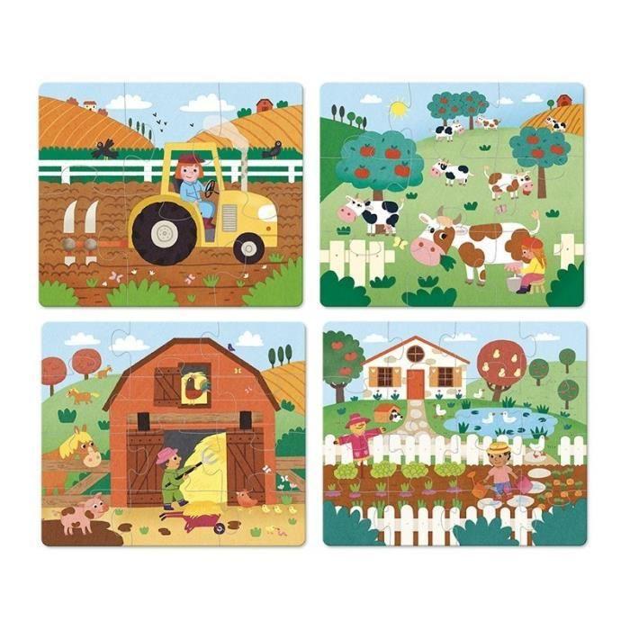 4 puzzles evolutifs ferme - Vilac - taille:.