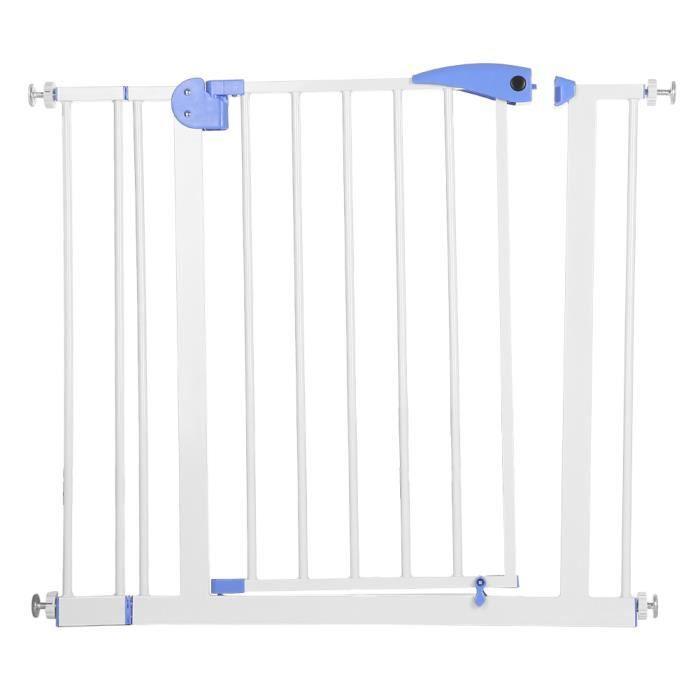 WIPES Bébé Sécurité Enfants porte, Automatique Fermer Balançoire Clôture d'escalier Protection pour Animaux Compagnie (bleu)