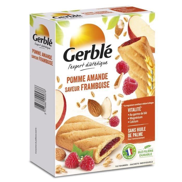 GERBLE Biscuits fourrés à la pomme, framboise et amande - 200 g