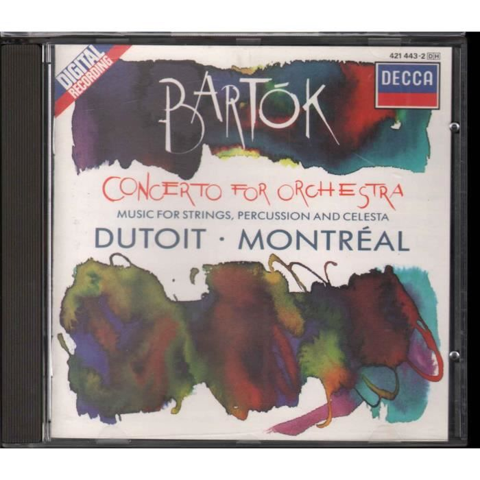 CD AMBIANCE - LOUNGE Bartok - Dutoit - Montreal CD Concerto For Orchest