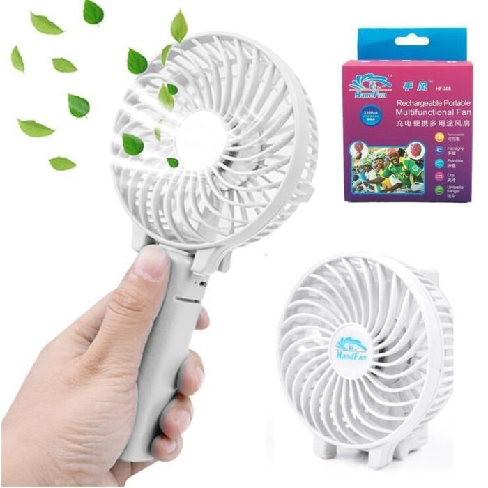 VENTILATEUR Ventilateur de poche,pliable, Portable,Batterie Re