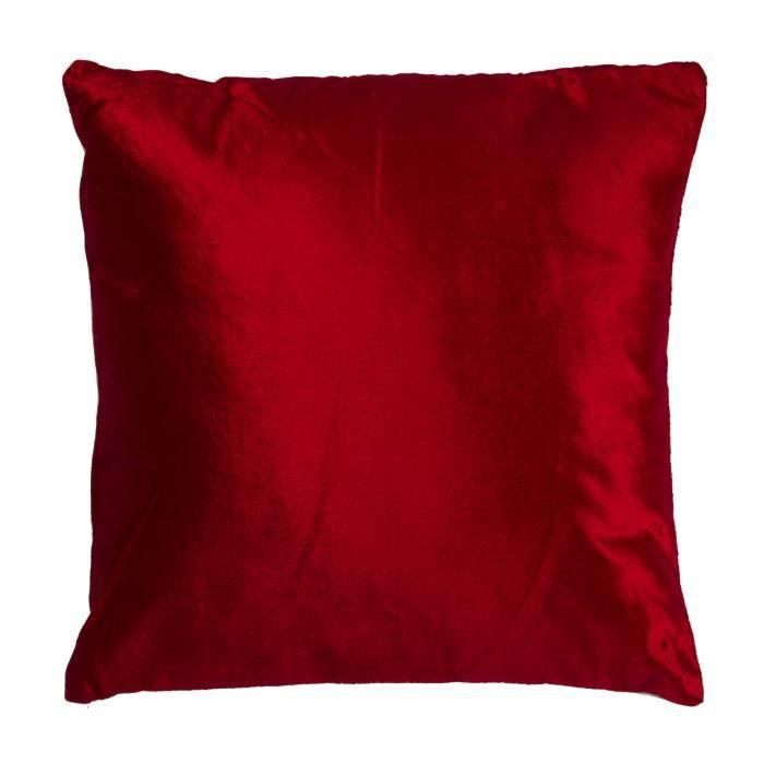 COUSSIN Coussin bicolo - 38 x 38 cm - Rouge