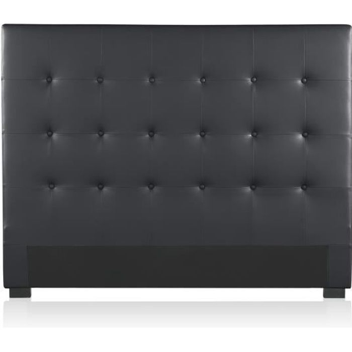 t te de lit capitonn e premium 140cm noir achat vente. Black Bedroom Furniture Sets. Home Design Ideas