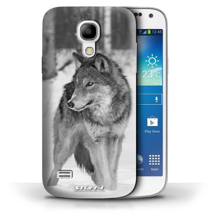 coque samsung galaxy s4 mini loup design animaux de. Black Bedroom Furniture Sets. Home Design Ideas