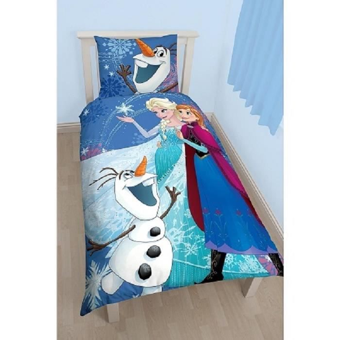 drap housse 70x140 reine des neiges achat vente drap. Black Bedroom Furniture Sets. Home Design Ideas