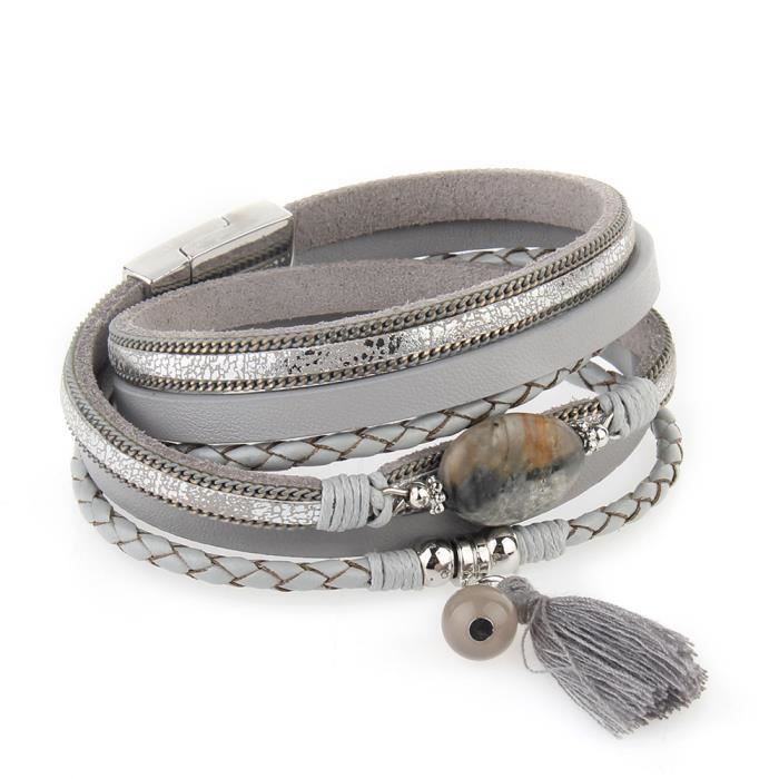 bracelet cuir femmme