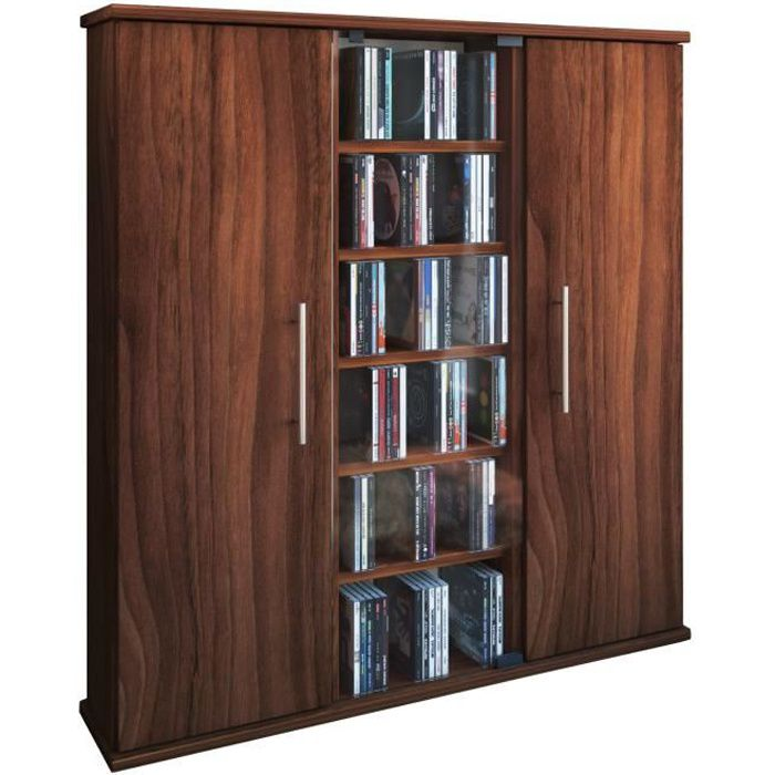santo tour rangement biblioth que cd dvd 450 cd noyer achat vente biblioth que santo tour. Black Bedroom Furniture Sets. Home Design Ideas