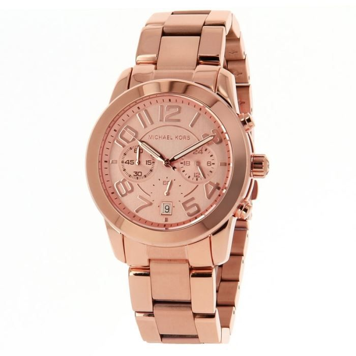 pin michael kors mk5727 mercer rose gold chrono dial metal bracelet women on pinterest. Black Bedroom Furniture Sets. Home Design Ideas