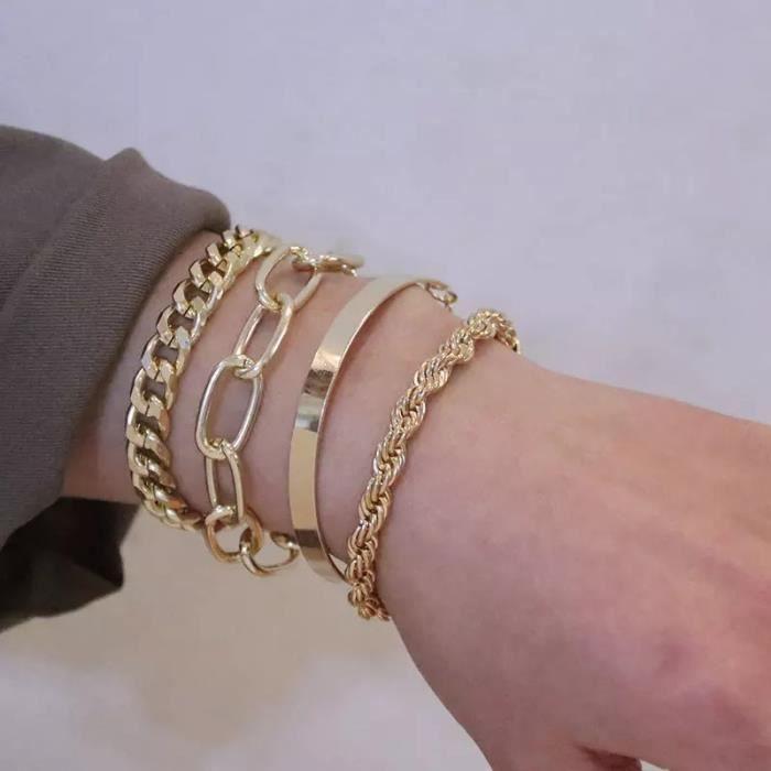 Bracelet Breloques Style Pandora Argent Cristal Mu