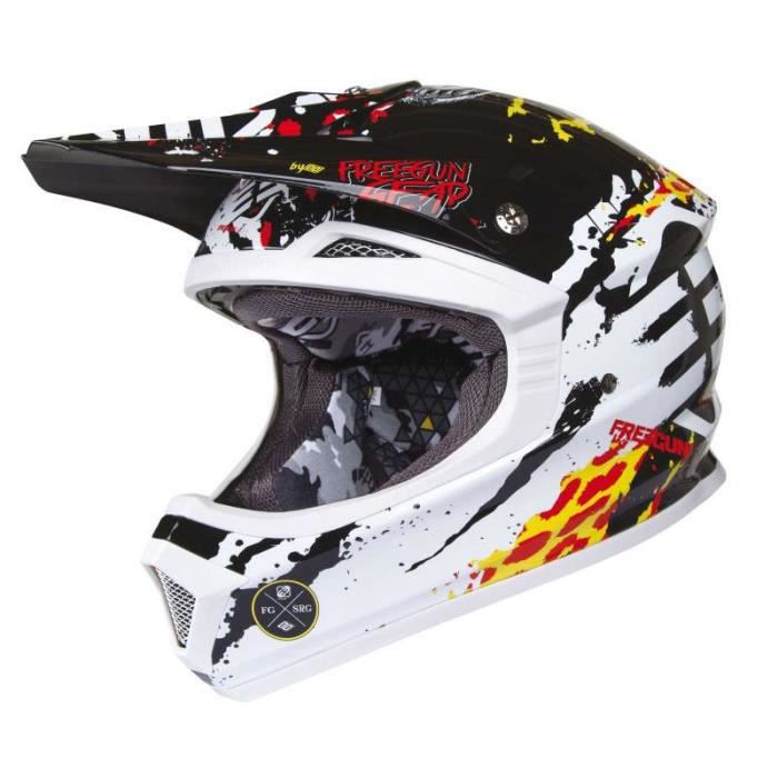 casque moto cross enfant freegun jaune rouge achat. Black Bedroom Furniture Sets. Home Design Ideas