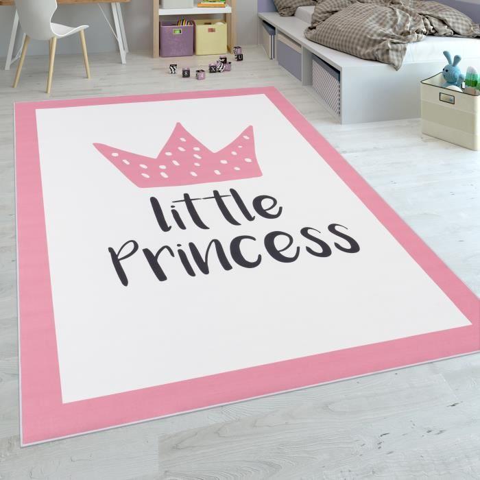 Dimension:80x150 cm Tapis Enfant Chambre Enfant 3D Adorable Patchwork Ours Lune /Étoile /Échelle en Rose