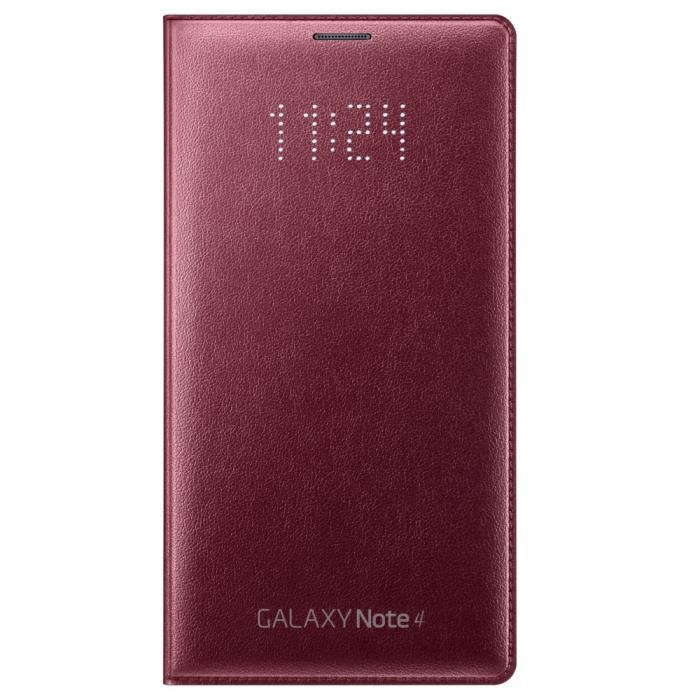 Samsung etui flip wallet rouge pour galaxy note 4 achat for Housse galaxy note 4