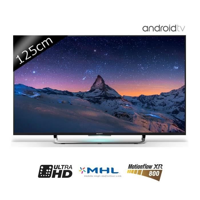 sony tv kd49x8305c uhd 4k 125cm 49 pouces led 4 hdmi smart tv classe a. Black Bedroom Furniture Sets. Home Design Ideas