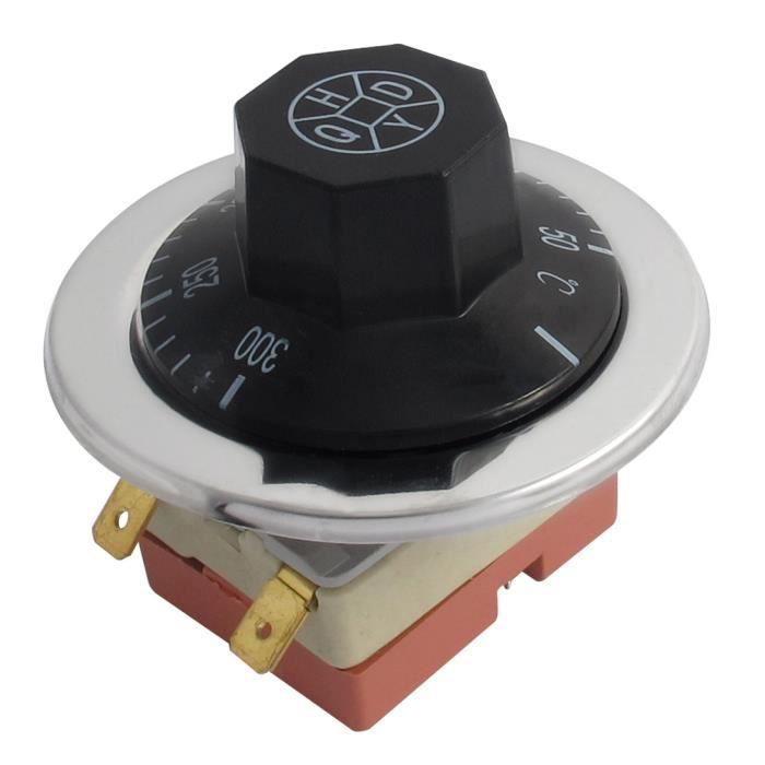 AC 250V 16A 50-300/°C Thermostat Contr/ôleur de temp/érature NC NO pour four /électrique