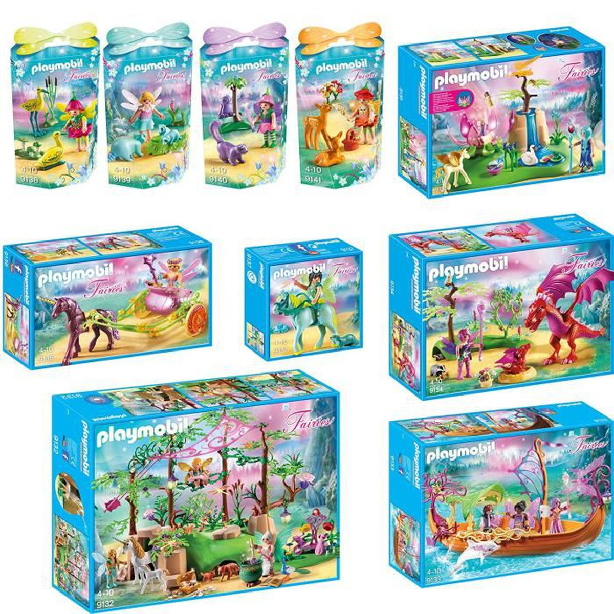 playmobil f es set compos de 9132 9133 9134 9135 9136 9137 9138 9139 9140 9141 achat. Black Bedroom Furniture Sets. Home Design Ideas