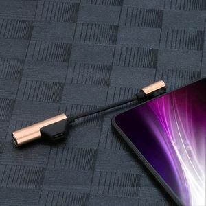 ADAPTATEUR AUDIO-VIDÉO  USB C Chargeur Câble audio 2 en 1 Type C à 3,5 mm