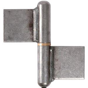 CHARNIÈRE - PAUMELLE Paumelle à souder - 120 mm - Noeud plat - Clemenso