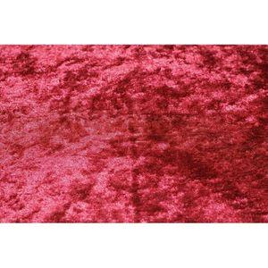 TISSU Tissu Panne de Velours Rouge Coupon de 3 mètres