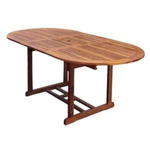 Table jardin ovale bois