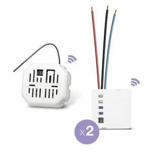 BOX DOMOTIQUE EDISIO - Pack Start - Va et vient sans fil 2 Circu