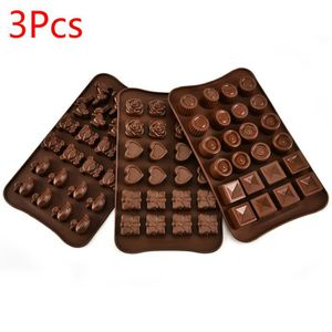2x 6 Cuillère Forme Silicone Chocolat Jelly Candy Mold Gâteau Chocolat Pâtisserie Moule