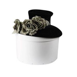 BOITE DE RANGEMENT Boîte de rangement en carton pour chapeaux Blanc