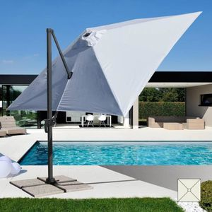 PARASOL Parasol de jardin 3x3 bras en aluminium carré PARA
