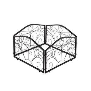 BORDURE CLP Set 4 bordures de jardin COLLIN en fer massif,