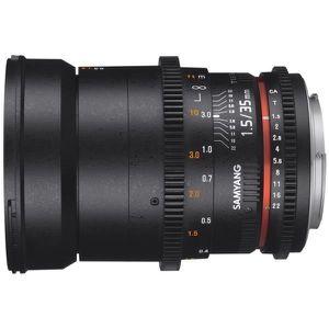 OBJECTIF Obj SAMYANG 35mm T1,5 VDSLR Canon II