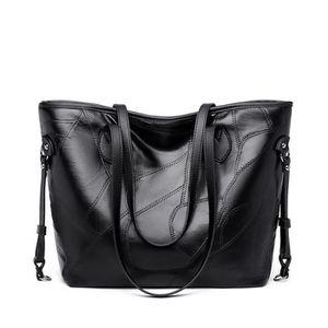 SAC À MAIN sac épaule Femme Cuir Noir Porté sac à main Poigné
