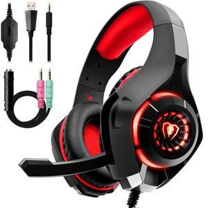 CASQUE AVEC MICROPHONE Yolistar Casque Gaming pour PS4 Xbox one Casque Ga