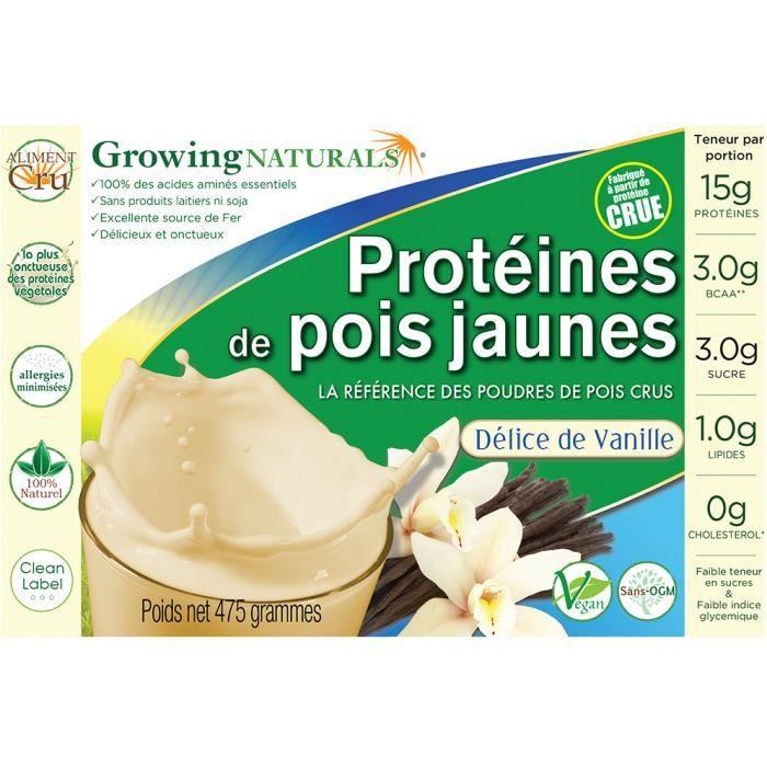 Mélange de protéines végétales crues de pois ja...