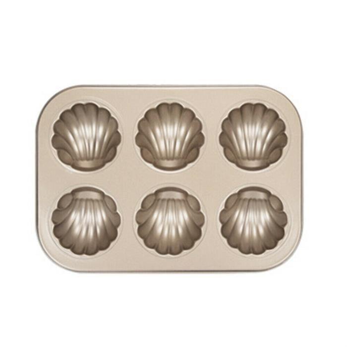 Mini moule à gâteau Madeleine, moule à biscuits ovale antiadhésif à 6 cavités TRH12651