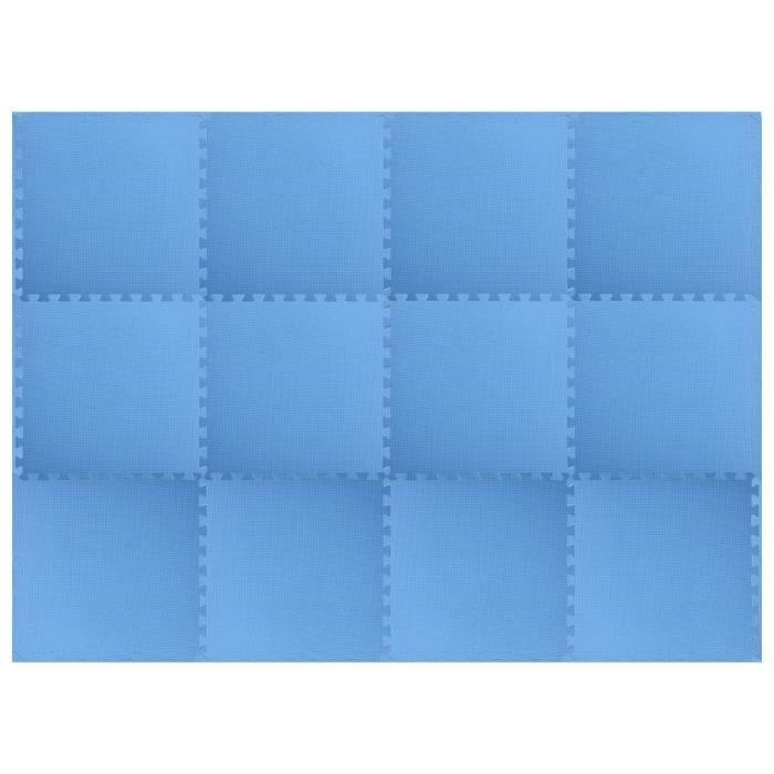 Tapis de sol 12 pcs 4,32㎡ Mousse EVA Bleu-HAJ