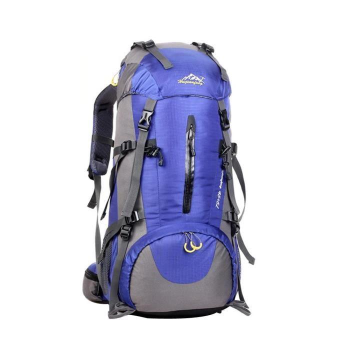 50L randonnée en plein air Camping imperméable en nylon Voyage Bagages Rucksack Sac à dos LZM81018231BU_0802