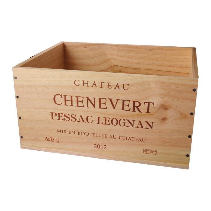 La Caisse Bois 6x75cl estampillé Château Chênevert - coffret