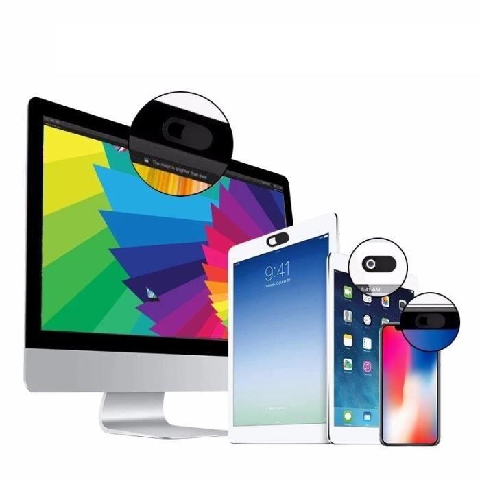 Cache Webcam x3 pour WIKO View 4 Smartphone (NOIR)