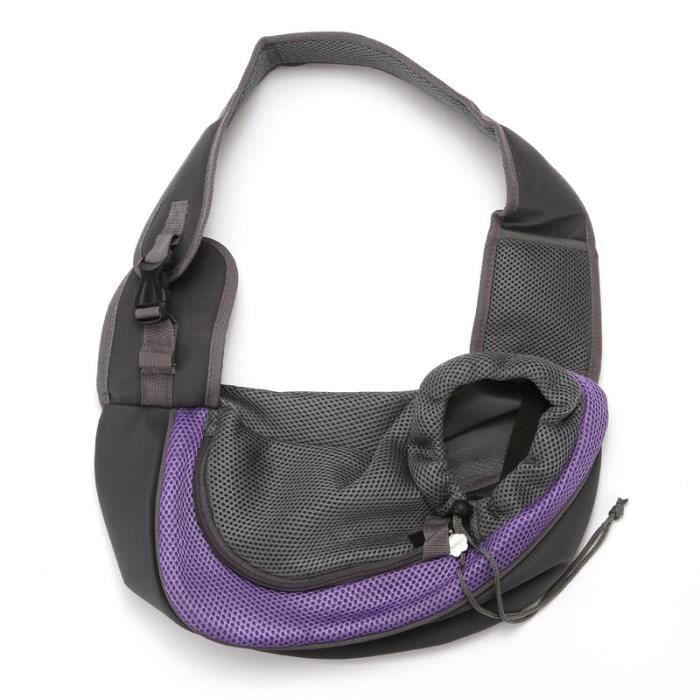 Sac de transport,Sac à bandoulière sac à dos en Silicone Transporteur d'animaux, chat, chiot, chien - Type Purple Without Bowl-S