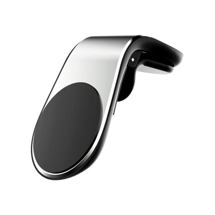 VIKEFON Support pour téléphone de voiture Support de prise d'air magnétique Support de Smartphone Mobile Support - Type Silver