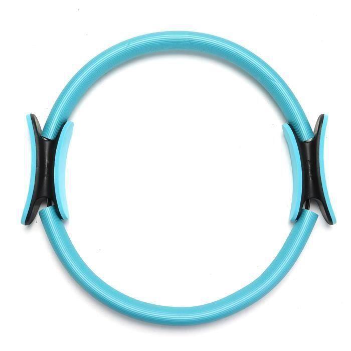 Cercle Pilates Dual Grip Sport Exercice Fitness Équipement Outil Yoga bleu
