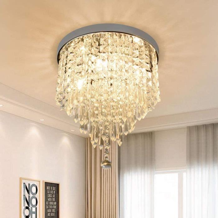 Depuley Lampe de Plafond Lustre Cristal K9 Design Moderne, Applique Plafonnier pour Salon Chambre à Coucher Salle &agrave119