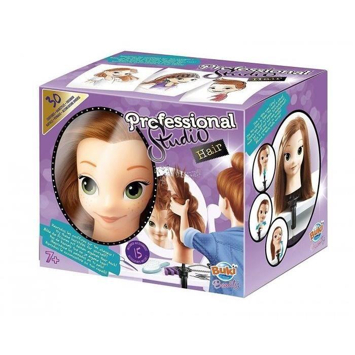 BUKI Tête à coiffer Pro + 15 Accessoires